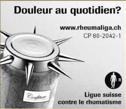 Ligue suisse contre le rhumatisme - Douleur au quotidien