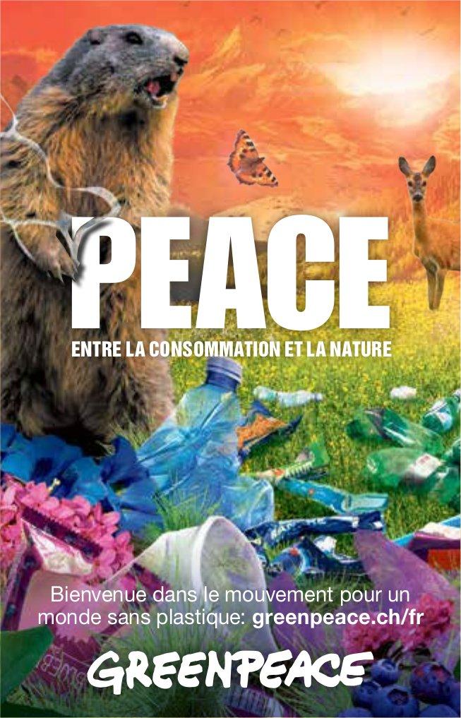 GREENPEACE - PEACE ENTRE LA CONSOMMATION ET LA NATURE