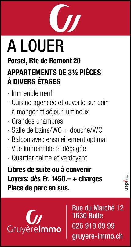Gruyèrelmmo, Romont, appartements de 3.5 pièces a louer