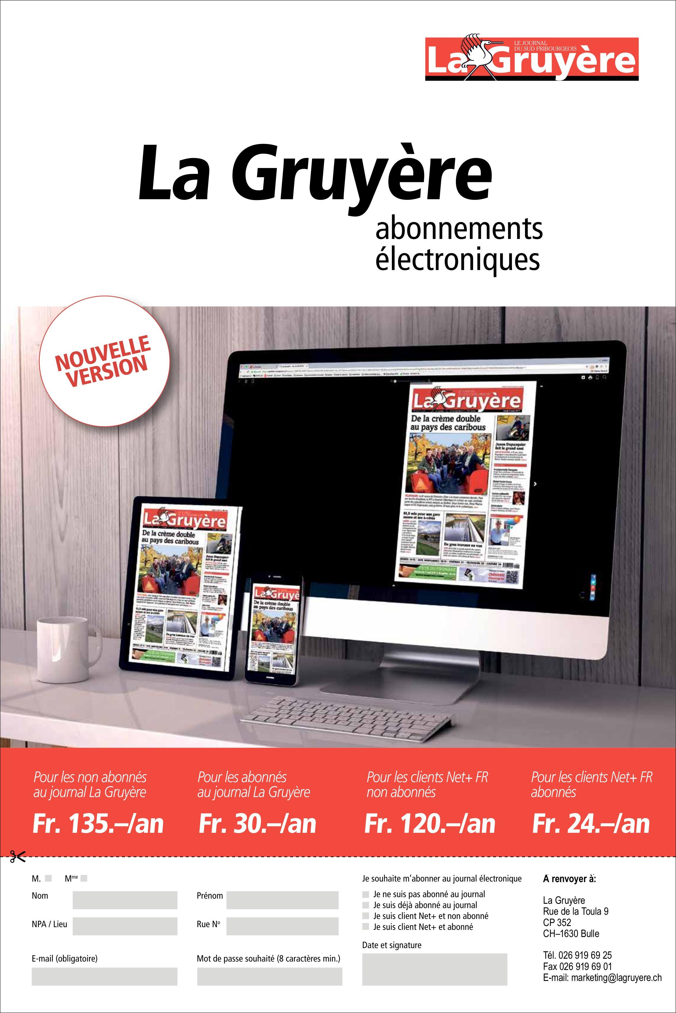 La Gruyère - abonnements électroniques nouvelle version