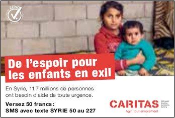 CARITAS - De l'espoir pour les enfants en exil