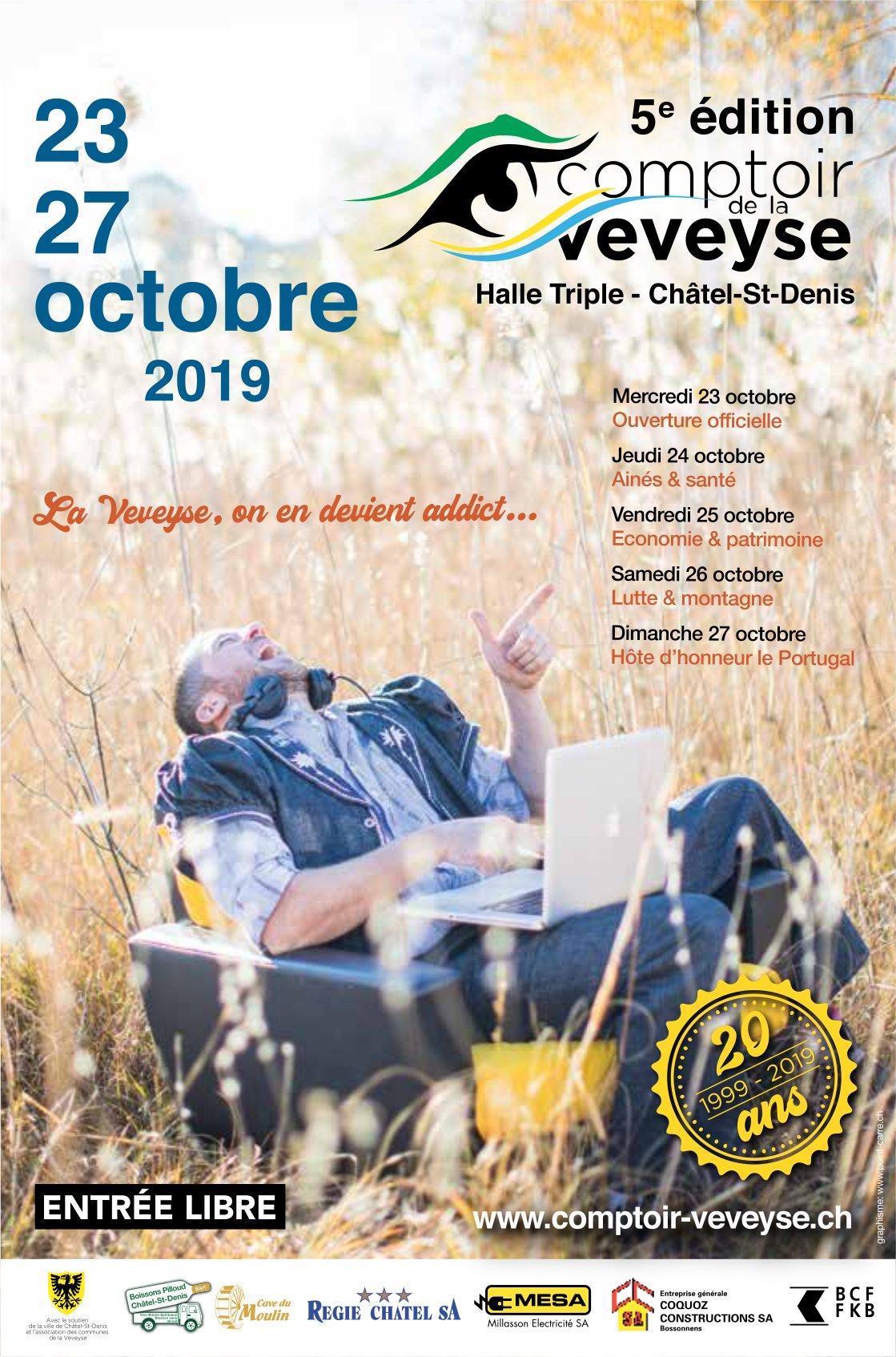 5e édition comptoir de la Veveyse, 23 au 27 octobre, Halle Triple, Châtel-St-Denis