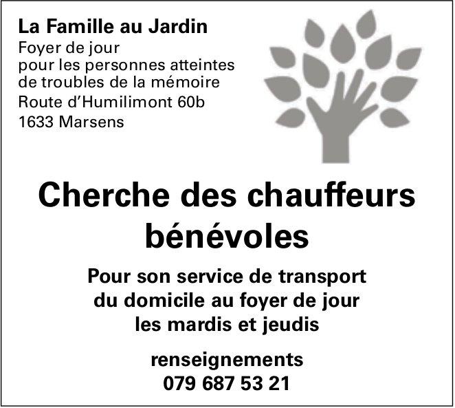 Chauffeurs bénévoles, La famille au Jardin foyer de jour, Marsens, recherchés
