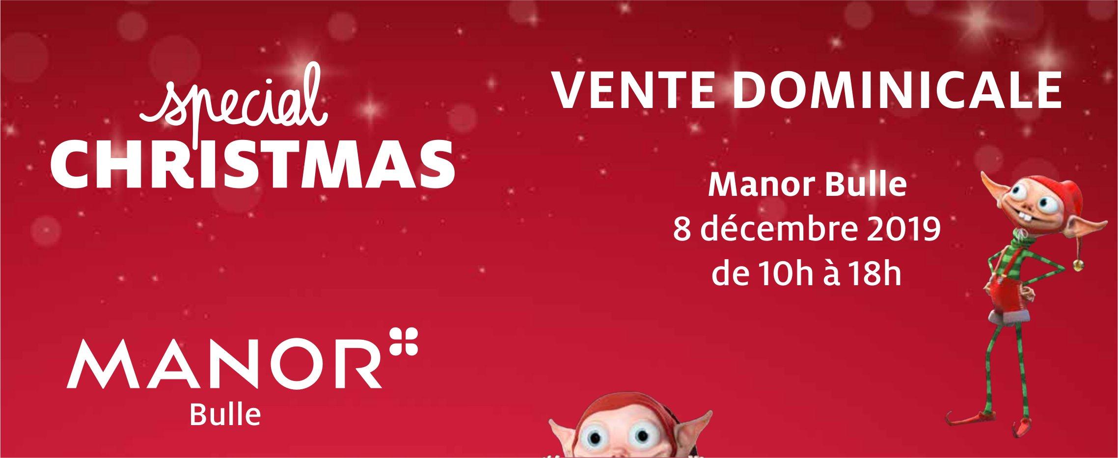 VENTE DOMINICALE SPECIAL CHRISTMAS, 8 décembre, Manor Bulle