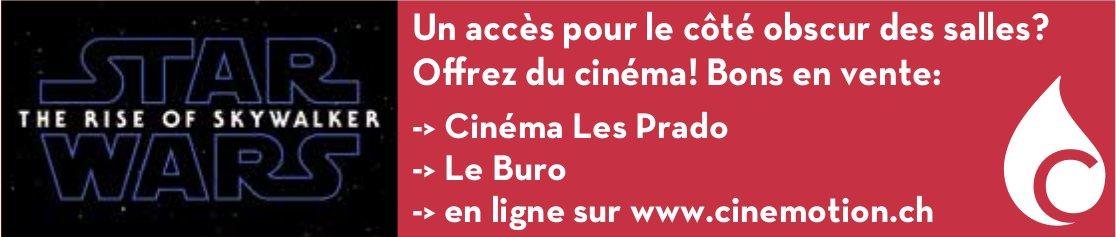 Cinéma Les Prado - Un accès pour le côté obscur des salles? Offrez du cinéma! Bons en vente