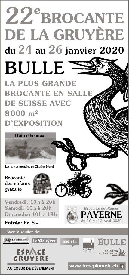 22e BROCANTE DE LA GRUYÈRE, 24 au 26 janvier, Bulle