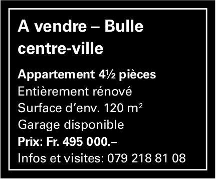 Appatement 4.5 pièces, Bulle, à vendre