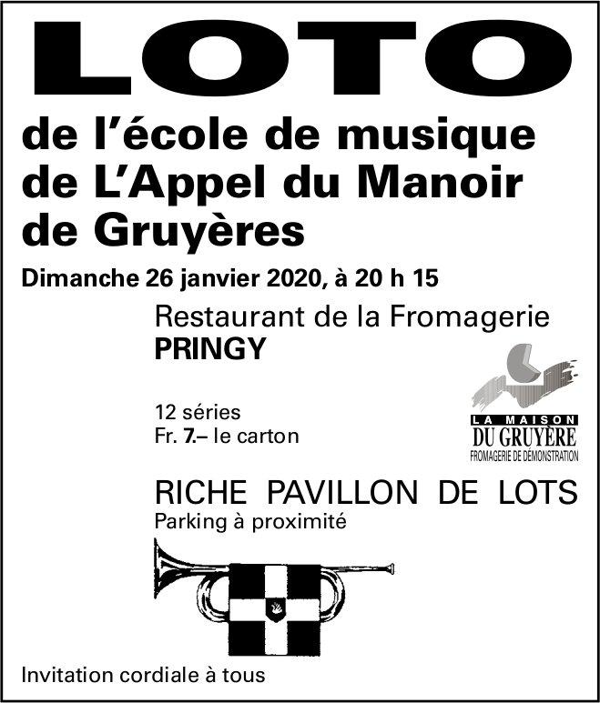 LOTO, 26. Janvier, Gruyères