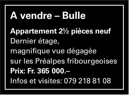 Appartement 2.5 pièces, Bulle, à vendre