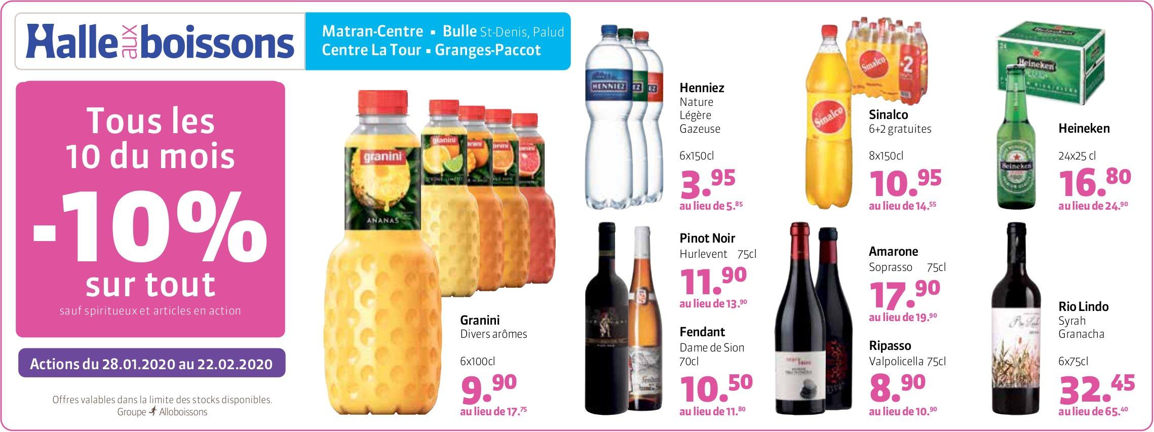 Halle aux boissons - Tous les 10 du mois -10% sur tout