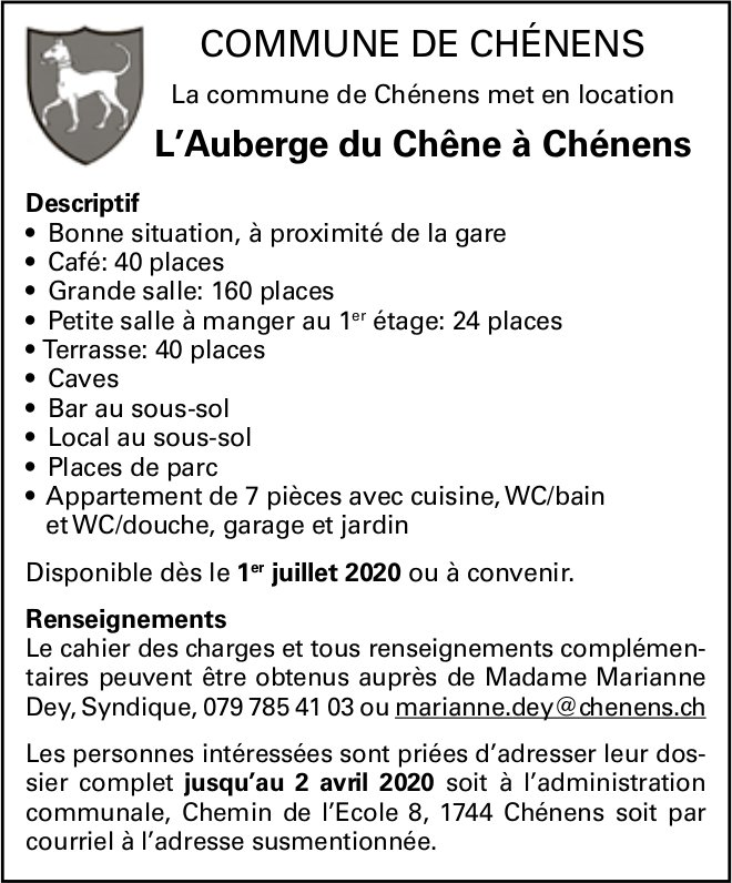 L'Auberge du Chêne à Chénens, 1 pièces,  Chénens, à vendre