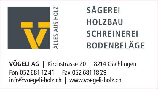 VÖGELI AG, Gächlingen - ALLES AUS HOLZ
