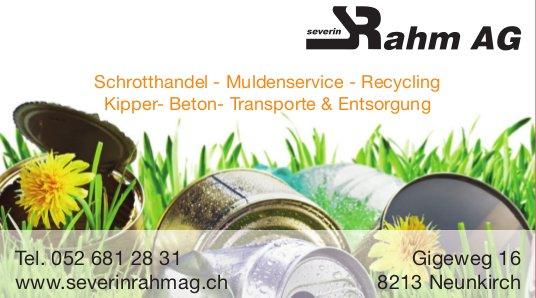 Severin Rahm AG, Neunkirch - Schrotthandel, Muldenservice, Recycling