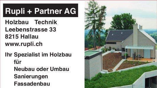 Rupli + Partner AG, Hallau - Ihr Spezialist im Holzbau