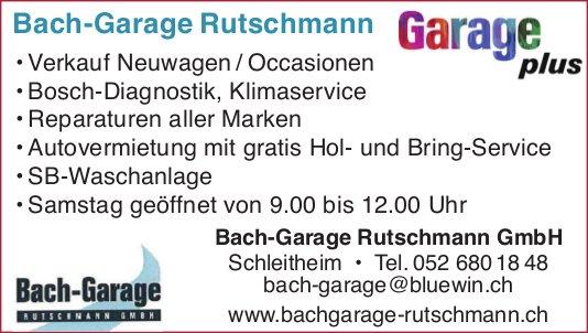 Bach-Garage Rutschmann GmbH, Schleitheim - Garage plus