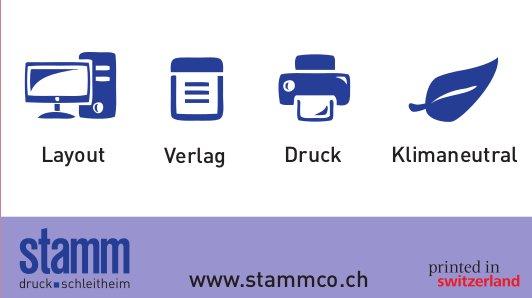 Stamm Druck, Schleitheim - Layout, Verlag, Druck, Klimaneutral