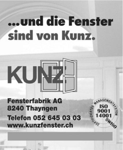 Kunz Fensterfabrik AG, Thayngen