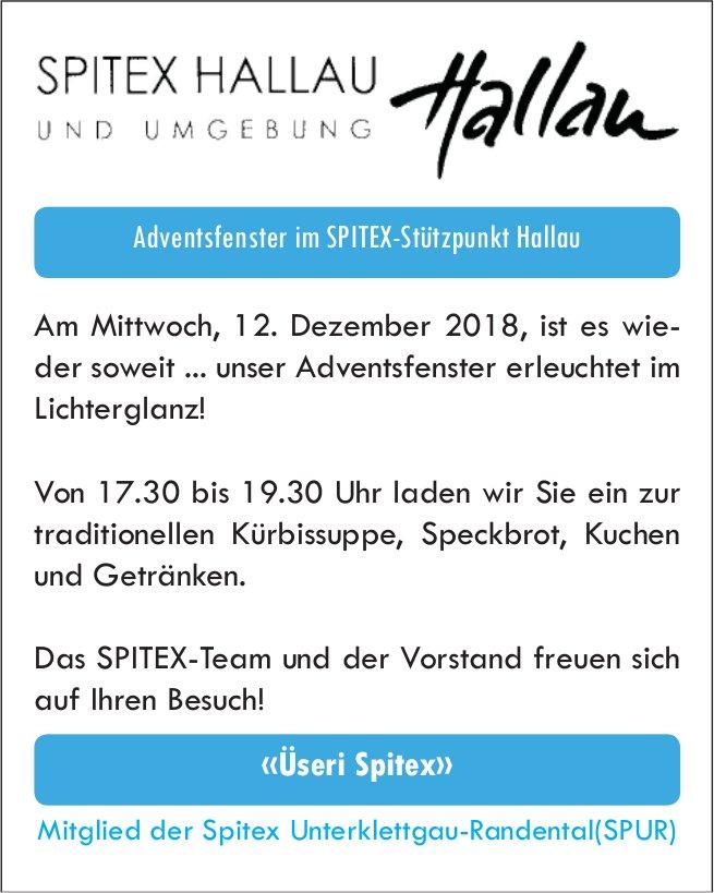 Adventsfenster, 12. Dezember,  im SPITEX-Stützpunkt Hallau