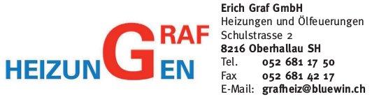 Erich Graf GmbH, Oberhallau SH - Heizungen und Ölfeuerungen