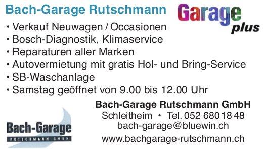 Bach-Garage Rutschmann GmbH, Schleitheim