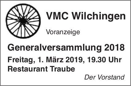 Generalversammlung 2018, VMC Wilchingen, 1. März, Restaurant Traube
