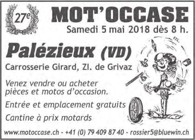 27e MOT'OCCASE, 5 mai, Palézieux (VD)