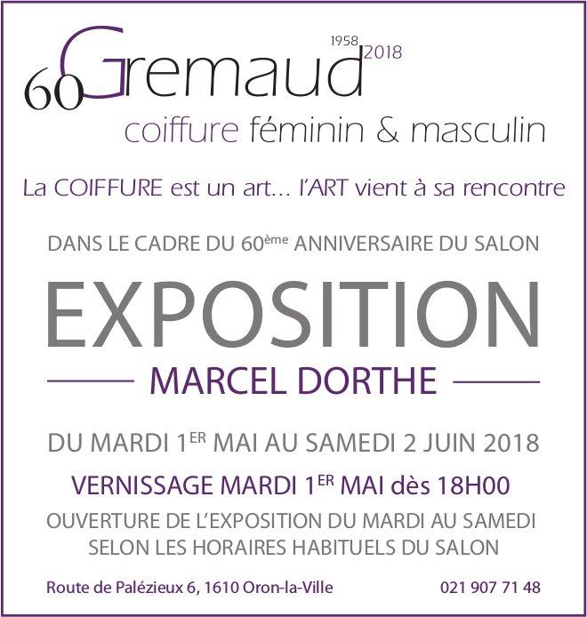 Gremaud coiffure féminin & masculin - EXPOSITION, MARCEL DORTHE, 1er mai au 2 juin