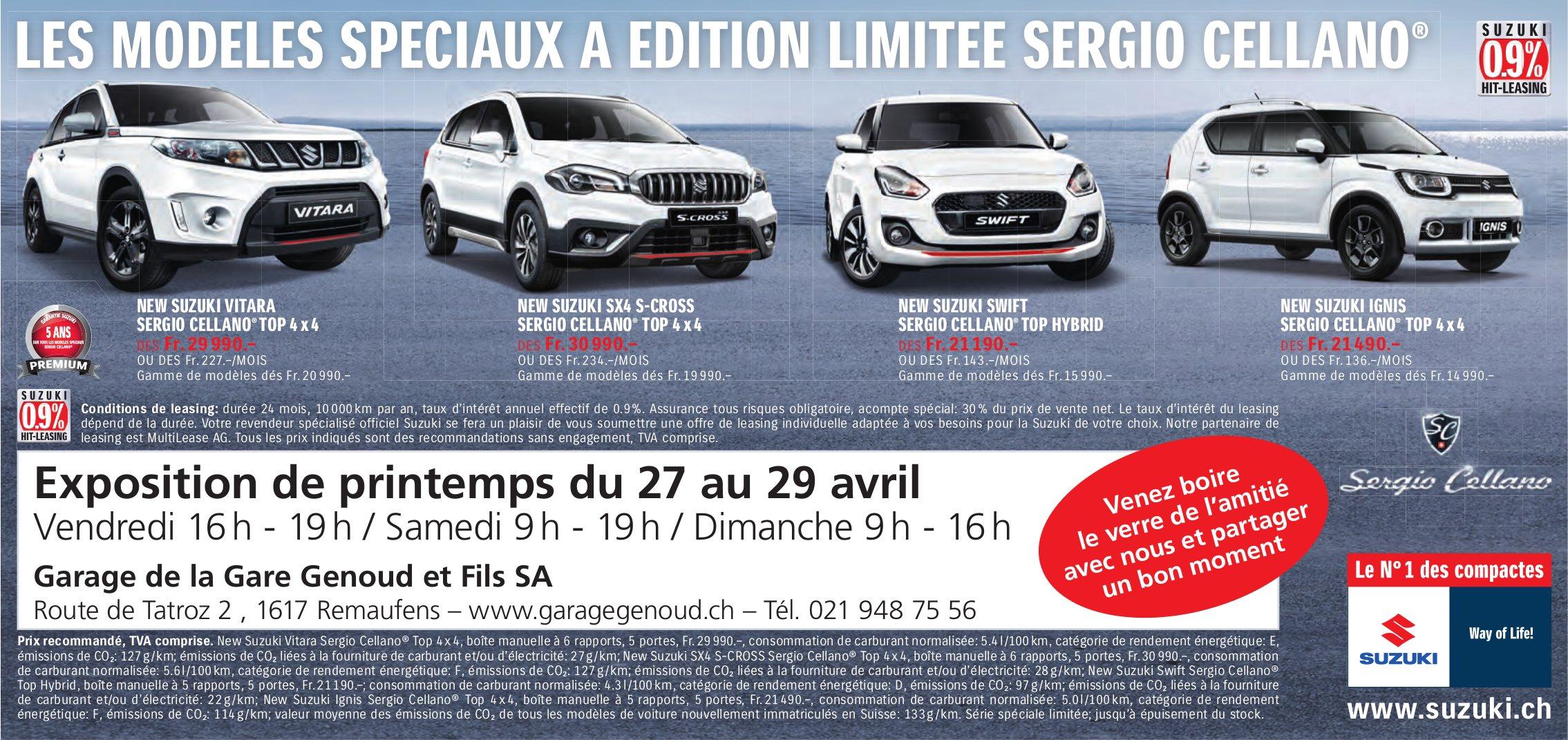 Garage de la Gare Genoud et Fils SA, Remaufens - Exposition de printemps du 27 au 29 avril