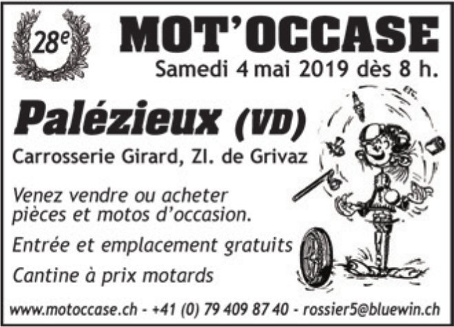MOT'OCCASE, 4 mai, Carrosserie Girard, Grivaz