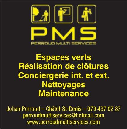 PMS, Châtel-St-Denis, Espace verts et réalisation de clôtures