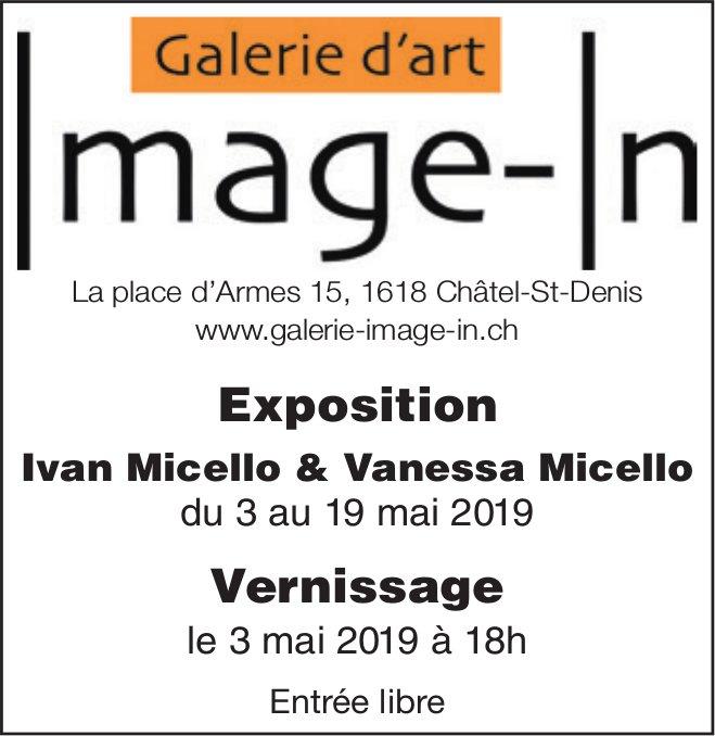 Galerie d'art Image-in, Châtel-St-Denis, exposition Ivan Micello & Vanesa Micello 3 au 19 mai
