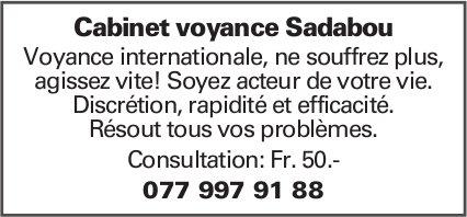 Cabinet voyance Sadabou - Consultation:Fr.50.-