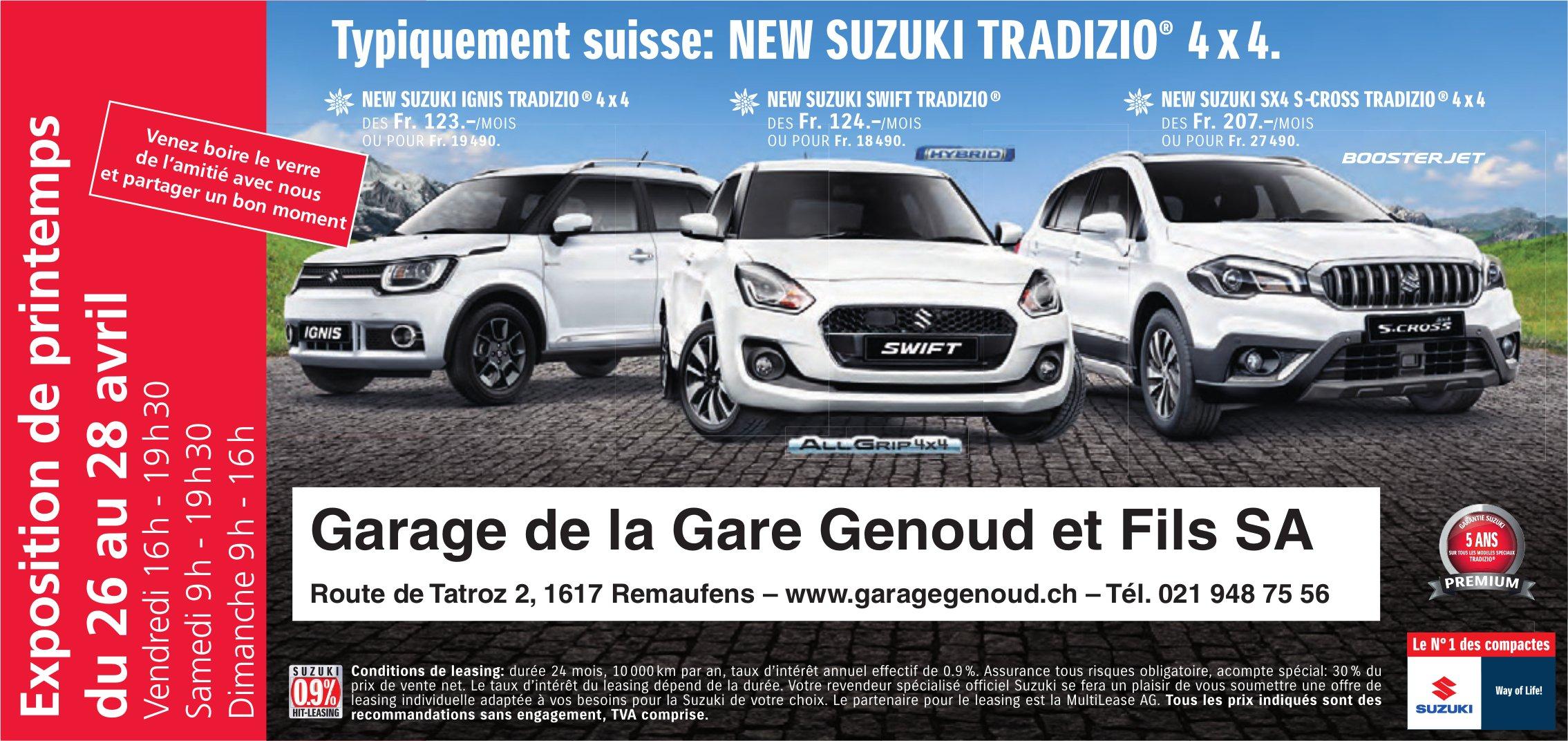 Garage de la Gare Genoud et Fils SA, Remaufens, Typiquement Suisse: New suzuki