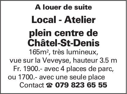 Local - Atelier 165 m2, Châtel-St-Denis, a louer