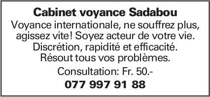 Cabinet voyance Sadabou - Consultation: Fr. 50.-