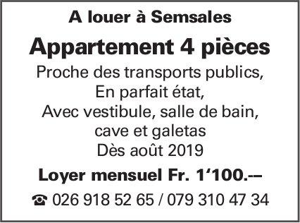 Appartement 4 pièces, Semsales, à louer