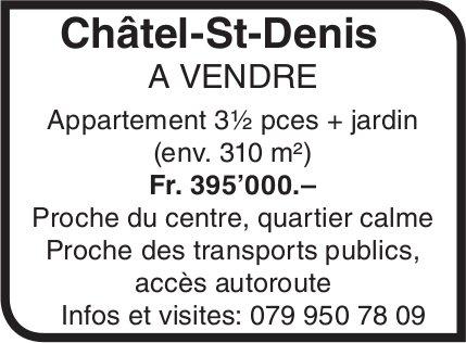 Appartement 3½ pièces + jardin, Châtel-St-Denis, à vendre