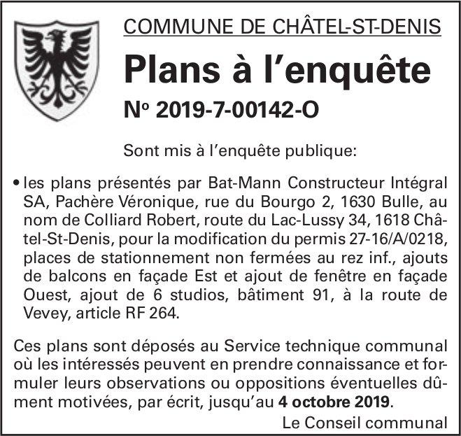 Commune de Châtel-St-Denis - Plans à l'enquête No 2019-7-00142-O