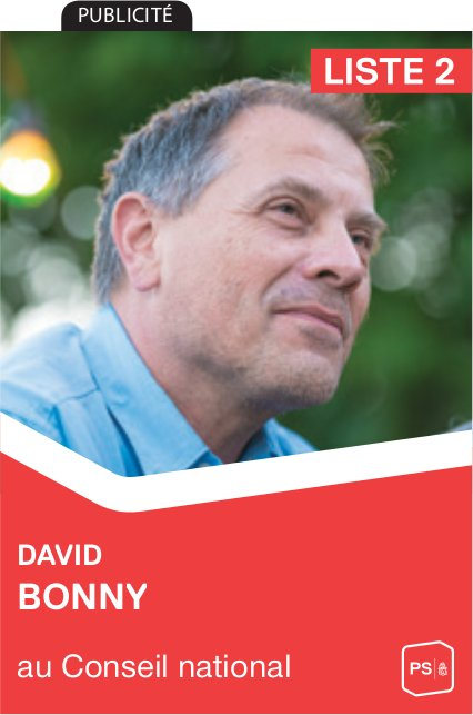 Liste 2 - David Bonny au Conseil national