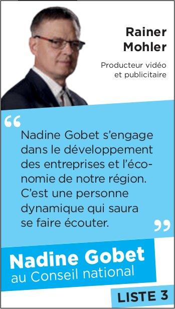 LISTE 3 - Nadine Gobet au Conseil national