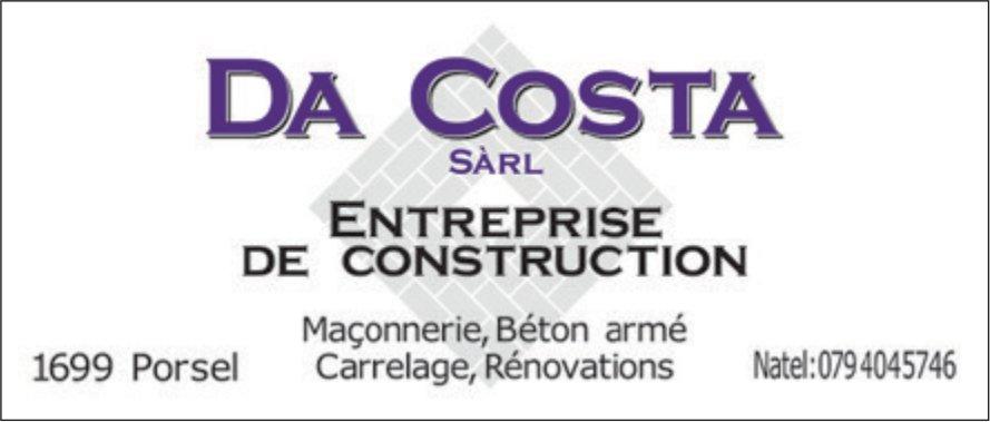 DA COSTA SARL ENTREPRISE DE CONSTRUCTION, Porsel, Maçonnerie-Béton