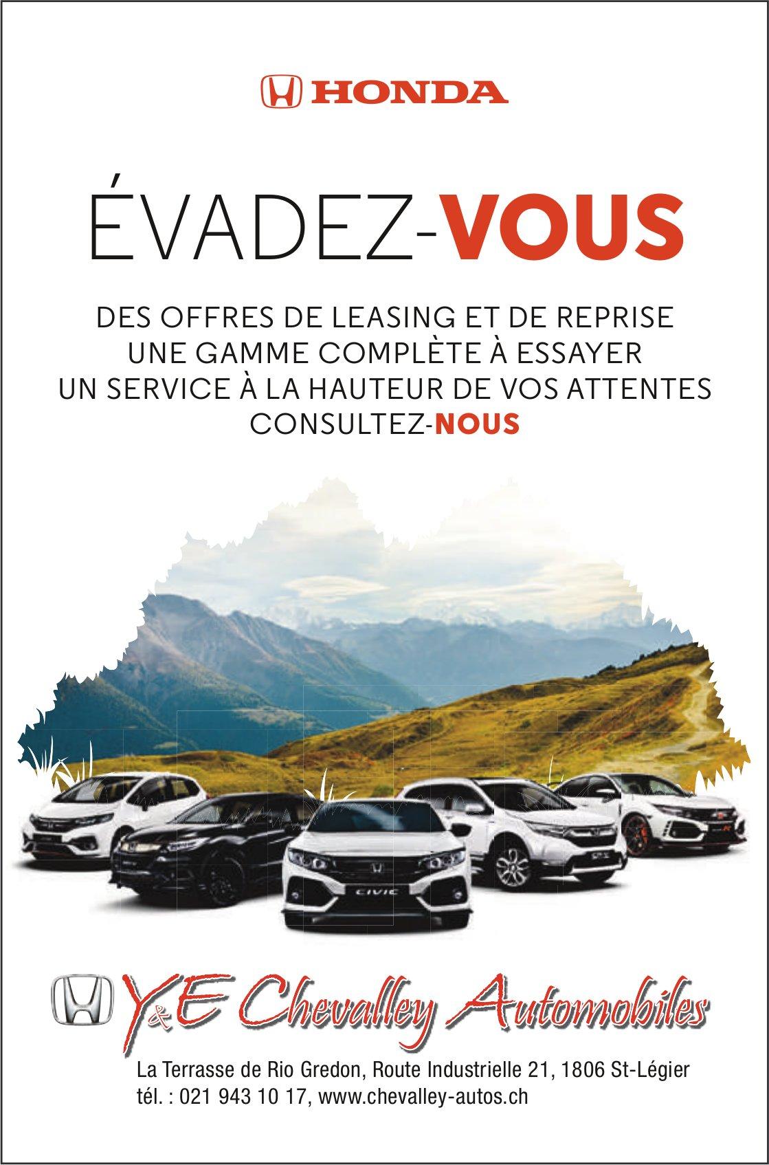 Y&E Chavalley Automobiles, St-Légier, Évadez-vous des offres de leasing et reprise