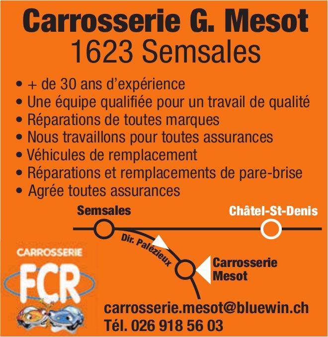 Carrosserie G. Mesot, Semsales, Une équipe qualifiée pour un travail de qualité