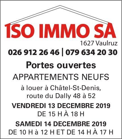 Portes ouvertes, 13 et 14 décembre, APPARTEMENTS NEUFS, Châtel-St-Denis