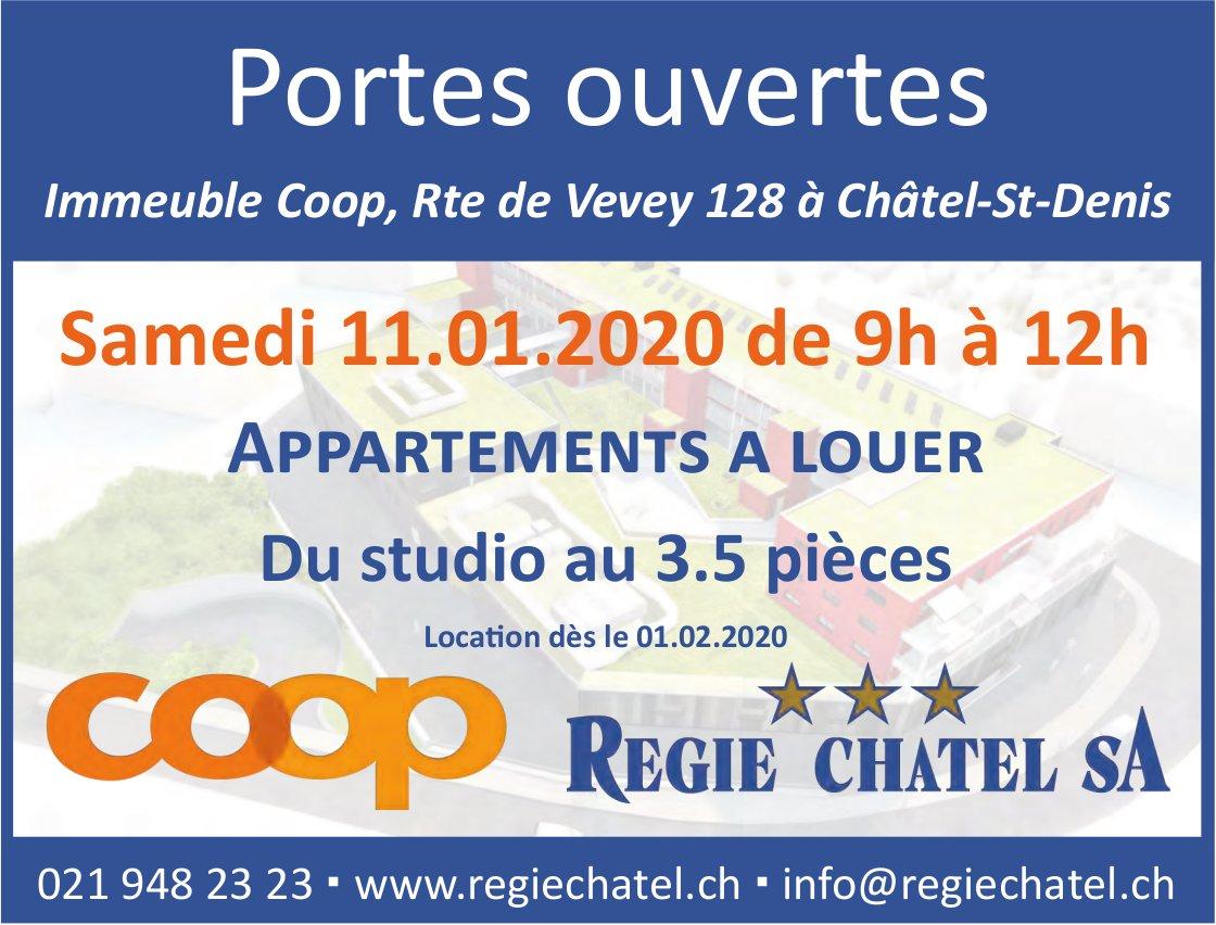 Appartements à louer, du studio au 3.5 pièces - Portes ouvertes, 11 janvier, Châtel-St-Denis