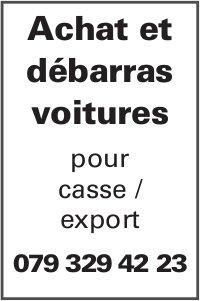 Achat et débarras voitures pour casse / export