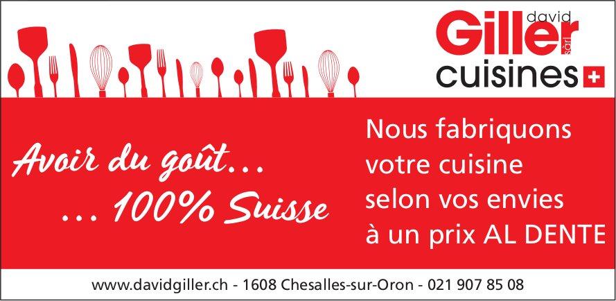 David Giller cuisines, Chesalles-sur-Oron, Nous fabriquons votre cuisine selon vos envies
