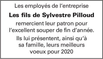 Les employés de l'entreprise Les fils de Sylvestre Pilloud remercient leur patron pour le souper