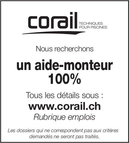 Aide-monteur 100%, corail, recherché