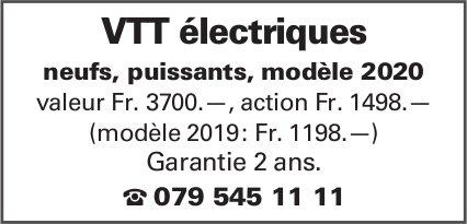 VTT électriques neufs, puissants, modèle 2020 valeur Fr. 3700.—, action Fr. 1498.—